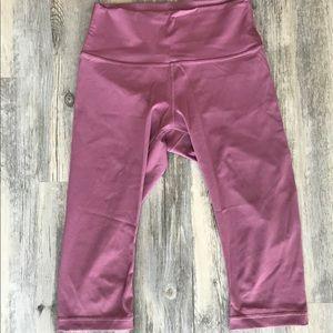 High-waisted, cropped lululemon pants